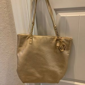 Gold Michael by Michael Kors Gold Tote